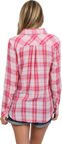 Rails Kendra Button Down Shirt in Pink/Ivory