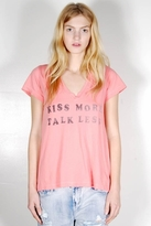 Rebel Yell Kiss More V Tee in Hot Pink
