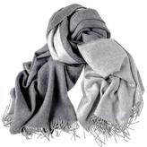 Black Two Tone Grey Reversible Cashmere Stole
