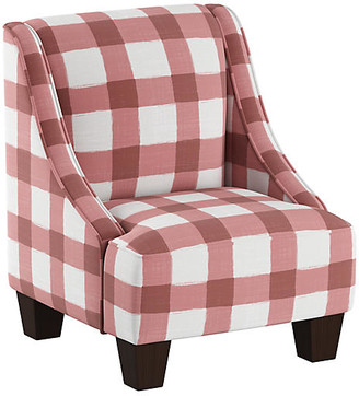 One Kings Lane Fletcher Kids' Accent Chair - Pink/White Linen