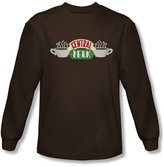 Friends - Mens Central Perk Logo Long Sleeve Shirt In