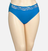 Avenue Obsidian Blue Microfiber Hi Cut Panty with Lace
