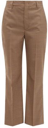 Prada Checked Wool-blend Trousers - Brown Multi