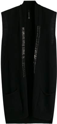 Pierantonio Gaspari Pierantoniogaspari pin-embellished sleeveless cardigan
