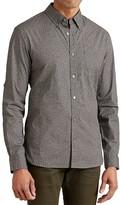 John Varvatos Leopard Print Roll Sleeve Slim Fit Button-Down Shirt