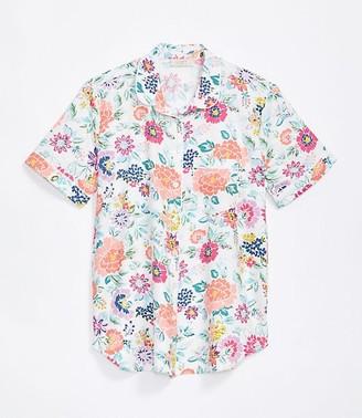LOFT Petite Floral Pajama Top