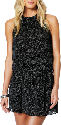 Ramy Brook Paris Burnout Sleeveless Jewel-Neck Mini Dress