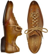 Forzieri Men's Brown Handmade Italian Leather Lace-up Shoes