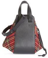 Loewe Hammock Plaid Shoulder Bag
