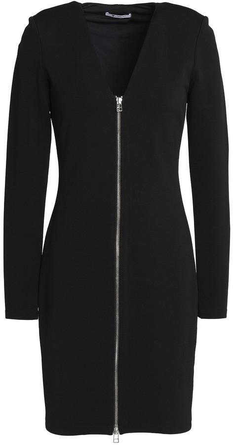 alexanderwang.t Zip-detailed Stretch-jersey Mini Dress