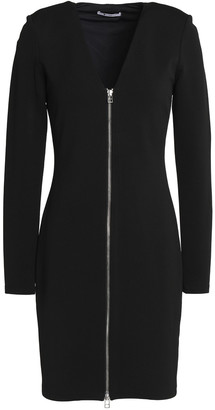 Alexander Wang Zip-detailed Stretch-jersey Mini Dress