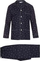 Derek Rose Skier-print cotton pyjama set