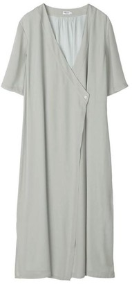 Filippa K Green Fog T31 Amalia Wrap Dress - 34