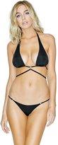 GUESS Wrap-Waist Logo-Plaque Bikini Top