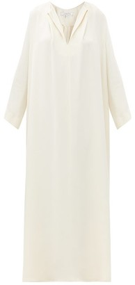 LA COLLECTION Apollo Silk-crepe Maxi Kaftan - Cream