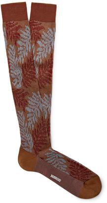 Missoni Intarsia Cotton-Blend Over-The-Calf Socks