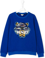 Kenzo tiger embroidered jumper