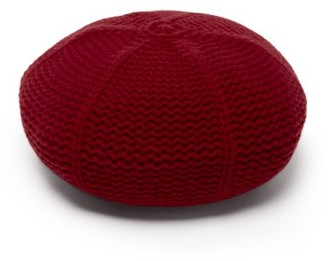 Gucci Garter-stitched Wool Beret - Red