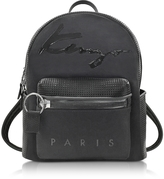 Kenzo Black Perforated Neoprene and Canvas Backpack