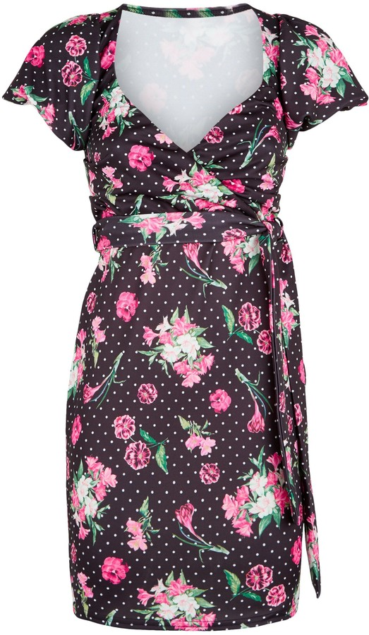 Thumbnail for your product : New Look Urban Bliss Floral Spot Puff Sleeve Dress