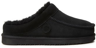 Dearfoams Fireside by Men's Moccasin-Toe Clog Slippers