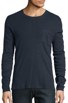 Selected Heathered Cotton-Blend Long-Sleeve Tee