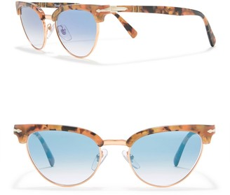 Persol 51mm Cat Eye Clubmaster Sunglasses