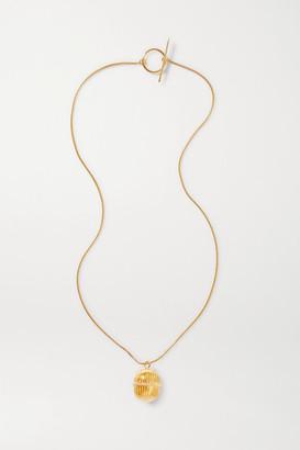 SOFT MOUNTAINS Monologue Gold Vermeil Necklace - one size