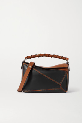 Loewe Puzzle Small Two-tone Leather Shoulder Bag - Black