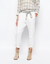 Sessun Whitegrand Jeans with Tapestry Tie Belt