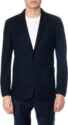 Calvin Klein Blue Stretch Fabric Blazer
