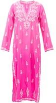 Juliet Dunn Sequin-embroidered Silk Kaftan - Womens - Pink