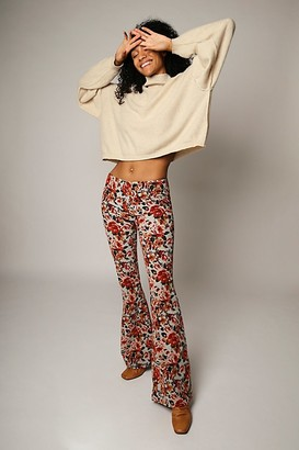 We The Free Pull On Corduroy Printed Flares
