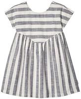Huxbaby HUXBABY Stripe Yoke Dress (Little Kids/Big Kids) (Navy Stripe) Girl's Clothing