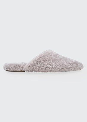 Vince Caela Curly Shearling Flat Slippers