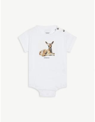 Burberry Deer-print cotton bodysuit 3-18 months