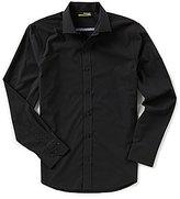 Murano Performance Slim-Fit Spread Collar Solid Long-Sleeve Sportshirt
