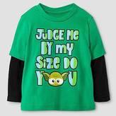 Star Wars Baby Boys' Judge Size Long Sleeve T-Shirt - Kelly Green