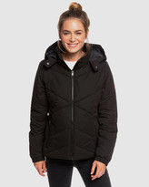 Roxy Womens No Goodbyes Hooded Puffer Jacket