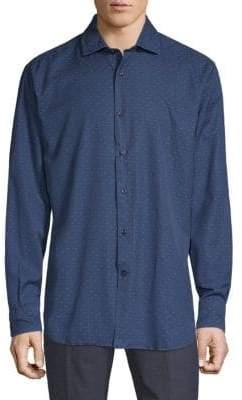 Paul & Shark Dot Cotton Denim Shirt