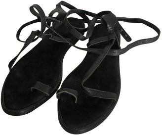 Haider Ackermann Black Leather Sandals