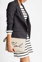 Karl Lagerfeld Zipped Leather Clutch