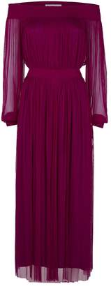 Amanda Wakeley Silk Tulle Long-Sleeved Dress