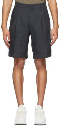 Ermenegildo Zegna Grey Linen Shorts