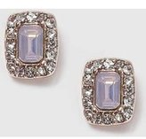 Dorothy Perkins Womens Rectangle Stone Stud Earrings- Pink