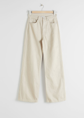 And other stories Wide Leg Woven Cotton Trousers
