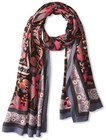 theodora callum womens bozeman wearable art blanket scarf grey