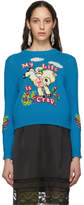 Marc Jacobs Blue Magda Archer Edition The Intarsia Sweater