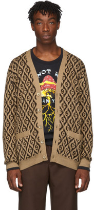 Gucci Brown G Rhombus Cardigan