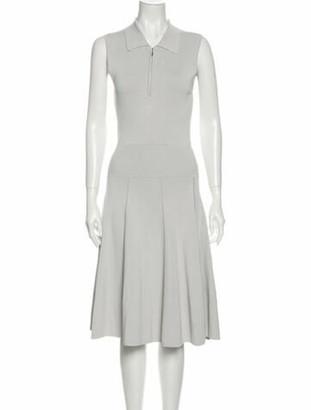 Jason Wu V-Neck Midi Length Dress Grey